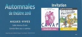 Les Automnales de théâtre 2018 deviennent gratuites: victoire de la DCAV ?