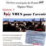 """Le corrigé de la liste du maire sortant """"Avec Vous pour l'Avenir"""" - Elections municipales 2020"""