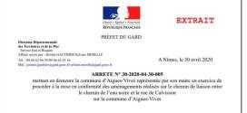 Scandale Bavencoff – REY: le Préfet ordonne la destruction des constructions du maire et de sa colistière qui menacent d'inonder un quartier d'Aigues-Vives
