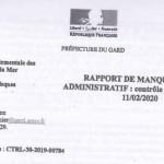 titre rapport de manquement envoyé aux entreprises BAVENCOFF