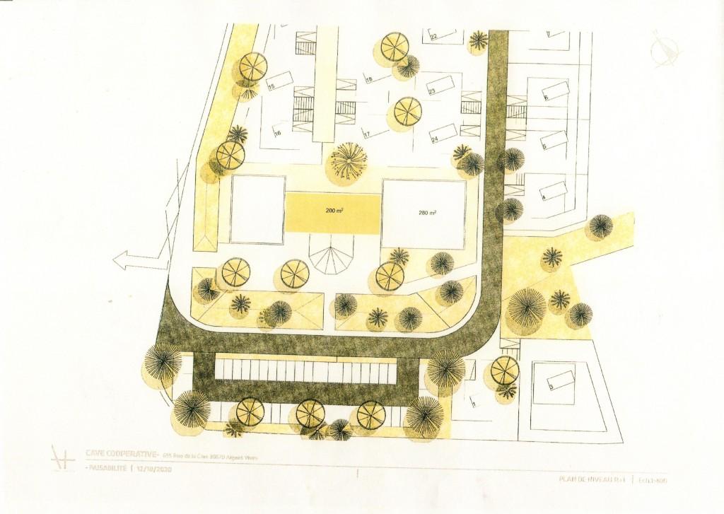 Photo 3 : Projet aménagement Cave coopérative Aigues-Vives (Gard) Plan de niveau R +1